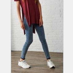 2016 Women's Snowflake Slim Vintage Denim Dark Light Blue Jeans Casual Stretch Skinny Female Mid Waist Elastic Pants Plus Size [Affiliate]