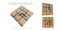 Beautiful natural wood wallclock http://designwoodclock.hu
