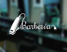 . Decoración de escaparates, vidrieras y puertas de cristal Peluquerías y Barberías 04374 Barber Shop Names, Barber Store, Beauty Shop, My Beauty, Tony Barber, Barber Equipment, Barber Shop Interior, Barber Logo, Barbershop Design