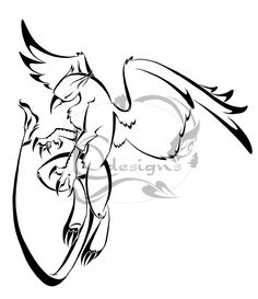 Gryphon tattoo by Lemondragon on DeviantArt Pretty Tattoos, Cool Tattoos, Tatoos, Greif Tattoo, Griffon Tattoo, Dragon Head Tattoo, Creature Drawings, Drawing Studies, Drawing Expressions