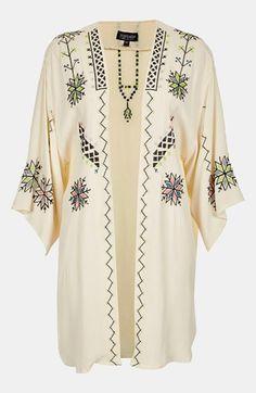 Topshop Embroidered Kimono Jacket | Nordstrom