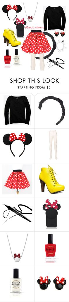 """Minnie Mouse"" by wckdesigns ❤ liked on Polyvore featuring J.Crew, Disney, Philosophy di Lorenzo Serafini, Speed Limit 98, Kate Spade and Lauren B. Beauty"