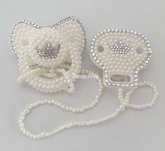 Cute Baby Girl, Cute Babies, Bling Pacifier, Chanel Decor, Baby Binky, Silicone Reborn Babies, Dummy Clips, Baby Kit, Baby Necessities