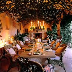 gorgeous outdoor dining....<3