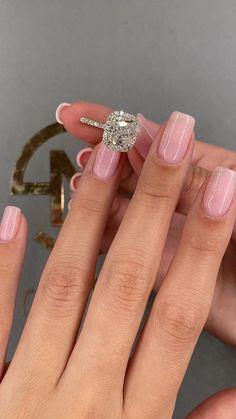 Engagement Rings Cushion, Princess Cut Engagement Rings, Beautiful Engagement Rings, Engagement Ring Cuts, Engagement Ring Vintage, Solitaire Engagement Rings, Disney Engagement Rings, Luxury Engagement Rings, Wedding Ring Cushion