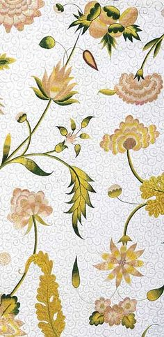 Queen Anne Floral Embroidery (detail)