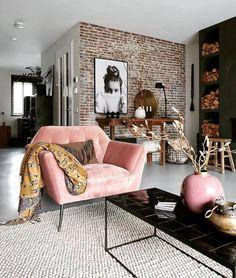 Living Room Chairs, Home Living Room, Living Room Decor, Bedroom Decor, Dining Room, Decor Room, Design Salon, Loft Design, House Design