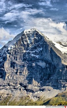 Eiger North Face. photo by bongaloid on deviantart, adapted to pinterest by iloveswissmade