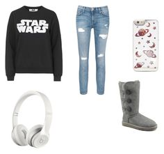 Star Wars and chill by starlightfashion8 on Polyvore featuring polyvore, fashion, style, Tee and Cake, Current/Elliott, UGG Australia and Beats by Dr. Dre