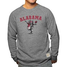 c4e912dec5ce Alabama Crimson Tide Adult NCAA Arch And Logo Distressed Crewneck Sweatshirt  - Gray