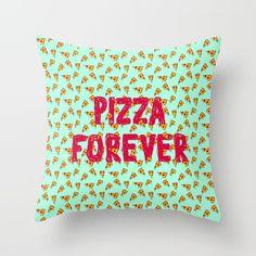 pizza forever throw pillow - Popular Throw Pillows
