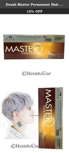Dcash Master Permanent Hair Dye Cream Color # Mg705 Titanium Blonde. DCASH Master Permanent Hair Dye Cream Color # MG705 Titanium Blonde. Brand : Dcash Condition : Brand new & Never used with a seal pack # MG705 Titanium Blonde Permanent Hair Color Color Cream for all hair type. Direction: 1. Select the desired DCASH color. 2. Carry out sensitivity test 24 hours before coloring (Mentioned on Every box) 3. Wash hair before coloring. 4. Premix the color cream with the equal amount of…
