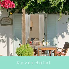 "KAVOS NAXOS – BOUTIQUE HOTEL ""Relaxing, serene, uncomplicated – what more could one possibly ask for"". Kavos Naxos is an inviting collection of stylish and comfortable suites, apartments or family-sized villas with full and friendly hotel service.  A few steps through the gardens bring you to our sparkling pool.  Cool off, and swim with a panoramic view of sea, sky and islands. Just enjoy the blissful feeling of Kavos Naxos."