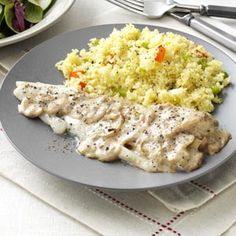 Roasted Fish with Light Herb Sauce Recipe