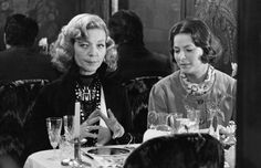Lauren Bacall with Ingrid Bergman from murder on the orient express