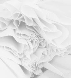 * t e x t u r e * white fabric ruffles