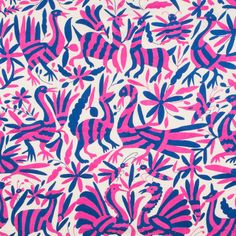 Pink and Blue Otomi Textile