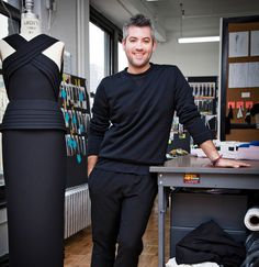 Brandon Maxwell once stitched together a dress made of steaks for Lady Gaga. Now he is showing his first collection, during New York Fashion Week.