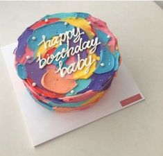 68 Ideas Birthday Cake Decorating Ideas Diy Desserts Source by caroli Pretty Birthday Cakes, Pretty Cakes, Cute Cakes, Beautiful Cakes, Amazing Cakes, Cake Birthday, Diy Unique Birthday Cakes, Sweet Cakes, Birthday Cake Designs