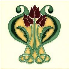 art nouveau tiles  wordt nog nieuw gemaakt