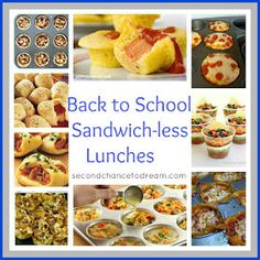 Back to School Sandwich-less Lunch Idea & links to other posts with other back to school foods & organization