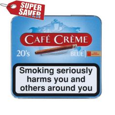 Henri Winter mans Cafe Creme Blue Small Cigarillos 5 Tin Boxes 20 Cigarillos per box Special Offer :-:- Tobacco Shop, Cafe Creme, Tin Boxes, Rolls, Blue, Van, Winter, Winter Time, Buns