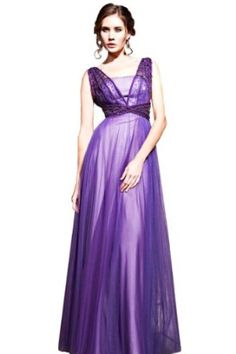 Orifashion Fashionable Long A-line Empire Tencel Evening Dress,