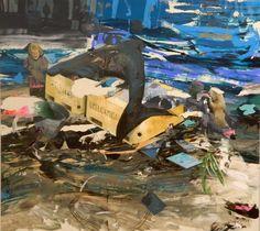 http://www.boumbang.com/giuseppe-gonella/ © Giuseppe Gonella, Dopo l'acqua le nuvole, acrylic on canvas, 200 x 220 cm, 2012