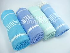 BEACH Towel FREE Shipment Set of 4 Turkish by turkishbubbles, $88.00