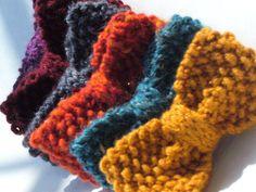 crochet bowties! adorable!
