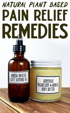 Six Natural Pain Relief Remedies! Whether you've been working too hard at the gym, overestimated your ability to hike up that mountain, overdid it on that new exercise program or your troublesome arthritis is flaring up again, these natural pain relief remedies will help to ease your body aches, pains and bruises! #painrelief #painremedy #painsalve #diy #homeremedy #naturalremedy #homeremedies #recipe #natural #plantbased