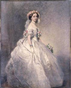 """""""Queen Victoria in her Wedding Gown,""""by Franz Xaver Winterhalter (1805-1873,German)"""
