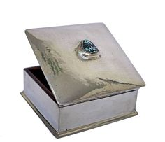 Liberty & Co Arts and Crafts jewellery box with turquoise stone detail on lid, From Hallmark Antiques Jewellery Box, Turquoise Stone, Jewelry Crafts, Liberty, Great Gifts, Arts And Crafts, Detail, Antiques, Antiquities