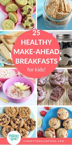 Toddler meals 592575263454722423 - Make mornings easy AND healthy with breakfasts for kids and toddler meals you can make ahead of time and serve in minutes. Source by babybreirezepte Healthy Make Ahead Breakfast, Healthy Lunches For Kids, Healthy Toddler Meals, Healthy Breakfast Smoothies, Kids Meals, Healthy Snacks, Toddler Food, Work Lunches, Healthy Breakfasts