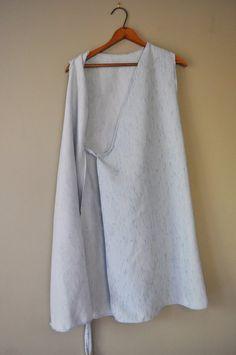 Items similar to Sashiko Inspired Stitching Wrap Dress in Powder Blue/Handsewn Wearable Art on Etsy Minimal Shoes, Upcycled Vintage, Wearable Art, Hand Stitching, Hand Sewing, Wrap Dress, Powder, Design Inspiration, Pattern