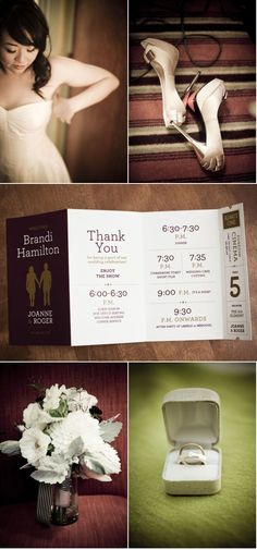 unique personalized wedding program with seat assignment