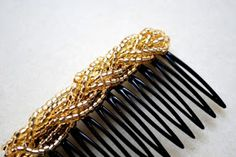 The Beading Gem's Journal: More Hair Jewelry Tutorials.  #DIY #hair #comb. #DIY #hair #accessories #DIY #hair comb