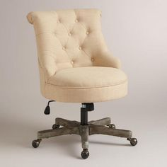 One of my favorite discoveries at WorldMarket.com: Natural Elsie Upholstered Office Chair