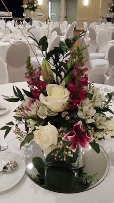 Gala Centerpiece.  Flowers - Designs by Victoria Floral