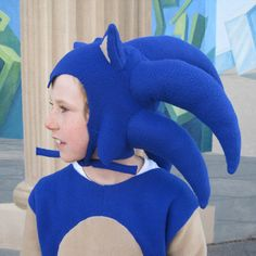 Sonic The Hedgehog inspired boys costume by FishbynClothing Sonic The Hedgehog Costume, Sonic Costume, Sonic Birthday Cake, Boy Costumes, Fleece Fabric, Hand Stitching, Party Time, Mario, Carnival