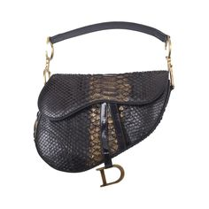 Early Limited Edition John Galliano for Christian Dior Python Saddle Bag | From a collection of rare vintage shoulder bags at https://www.1stdibs.com/fashion/handbags-purses-bags/shoulder-bags/