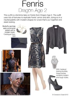 Outfit inspired by Fenris from Dragon Age 2