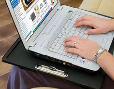 Cuscino per laptop con maniglia e clip #dmail #tecnologia