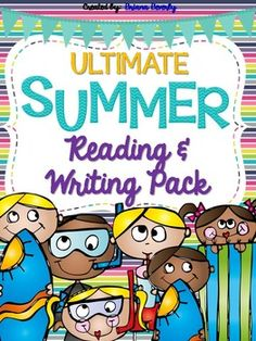 Cute Summer Reading Log And Writing Journal To Send Home With Students Over The
