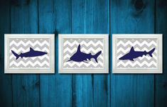 Hey, I found this really awesome Etsy listing at https://www.etsy.com/listing/173629307/shark-navy-grey-gray-animals-nautical