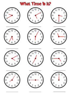 math worksheet : teach your kids to tell time to the nearest 5 with these handy  : Clock Worksheets For Kindergarten