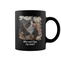 Cat mug black
