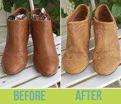 How to Turn Leather Boots into Suede! I'll never get rid of scuffed or scratched leather shoes again!