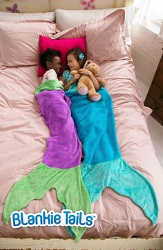 Mermaid Blanket by Blankie Tails - Blue & Aqua (Child/Youth 3-12 Years Old) - Blankie Tails - 1