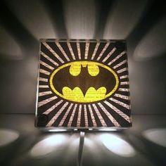 Batman Superhero Batman Signal Light Repurposed Vintage Dictionary Light Box Night Light